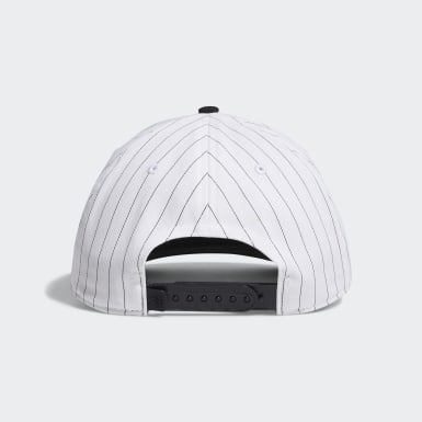 Men Golf White Pinstripe Hat