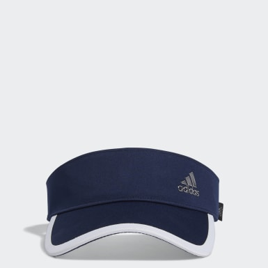 Women Golf Blue Silver Logo Visor