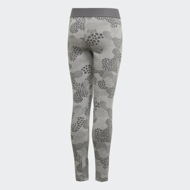 Girls Yoga Grey Must Haves Graphic Tights