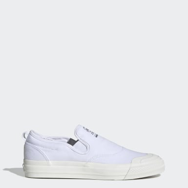 Women Originals White Nizza RF Slip-on Shoes