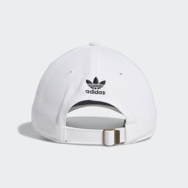 Men Originals White 3D Trefoil Strap-Back Hat