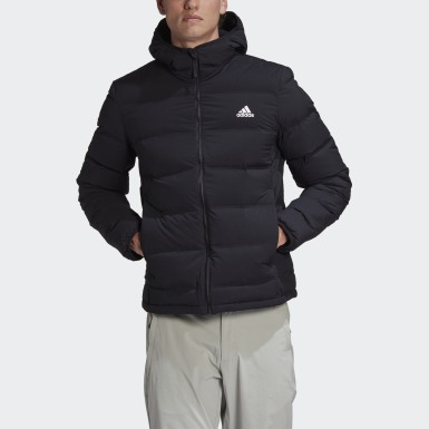 Männer City Outdoor Helionic Soft Hooded Daunenjacke Schwarz