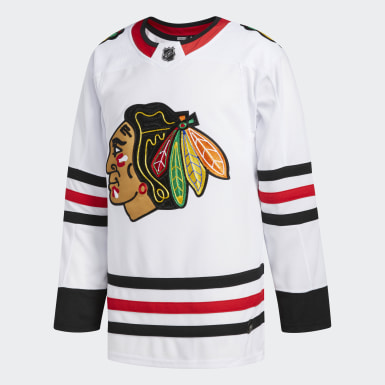 Maillot Blackhawks Extérieur Authentique Pro blanc Hockey