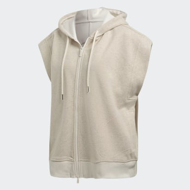 Women adidas by Stella McCartney Yellow Yoga Sleeveless Hoodie