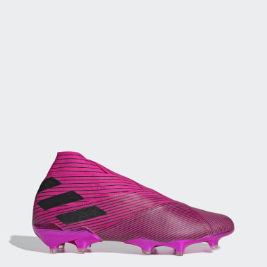 Men Football Pink Nemeziz 19+ Firm Ground Boots