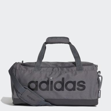 Träning Grå Linear Logo Duffel Bag