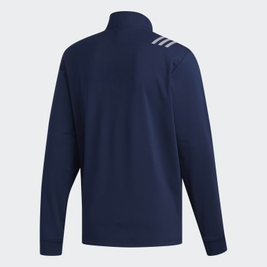 Men's Golf Blue 3-Stripes Core 1/4 Zip Sweatshirt