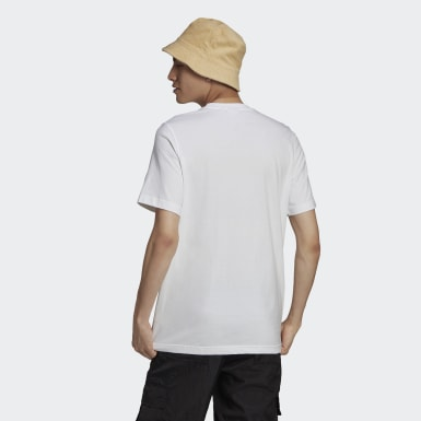 Men's Originals White Camo Trefoil Tee