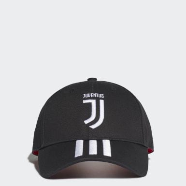 Fotbal černá Kšiltovka Juventus 3-Stripes