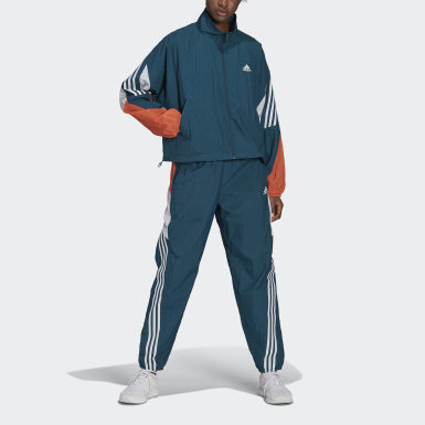 Women Athletics Turquoise adidas Sportswear Game-Time Woven Tracksuit