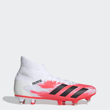 Football White Predator 20.3 Soft Ground Boots