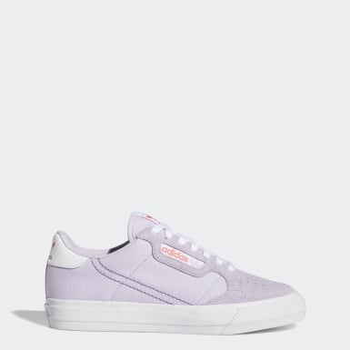 Dames Originals Paars Continental Vulc Schoenen