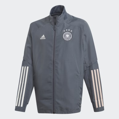Kinder Fußball DFB Präsentationsjacke Schwarz