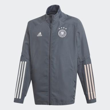 Børn Fodbold Sort Germany opvarmningsjakke