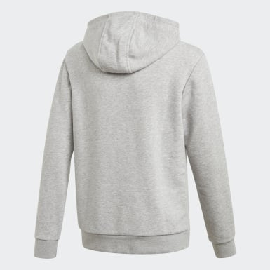 Youth Originals Grey Trefoil Hoodie