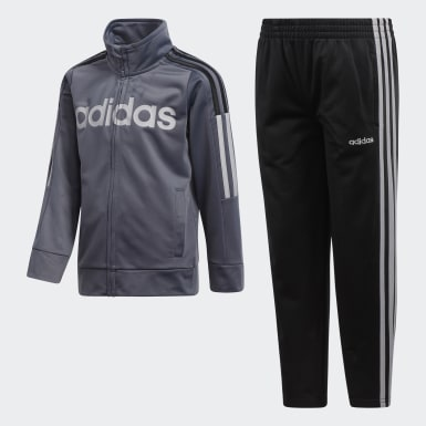 Children Training Grey Jacket and Pants Set