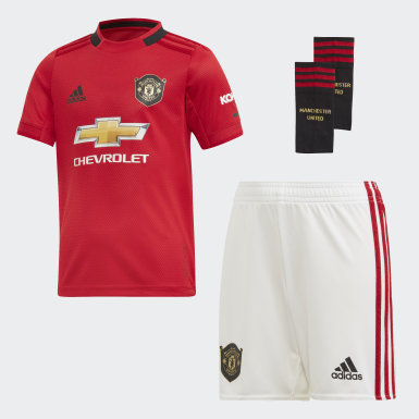 Kids Football Red Manchester United Home Mini Kit