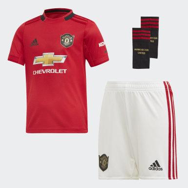 Mini kit Manchester United Domicile Rouge Enfants Football