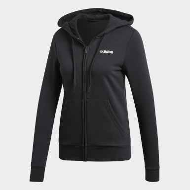 Chaqueta con capucha Essentials Solid Negro Mujer Training