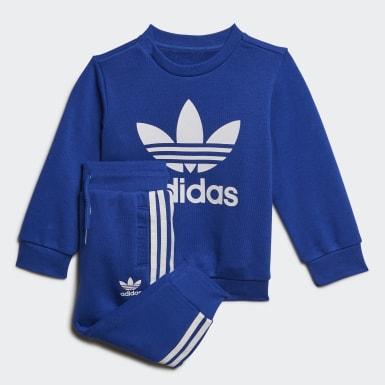 Conjunto Crew Sweatshirt Azul Niño Originals