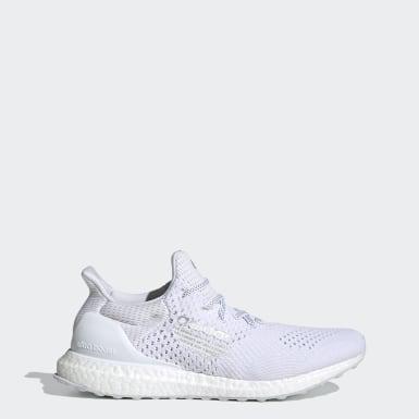 Men Running White Ultraboost DNA Shoes