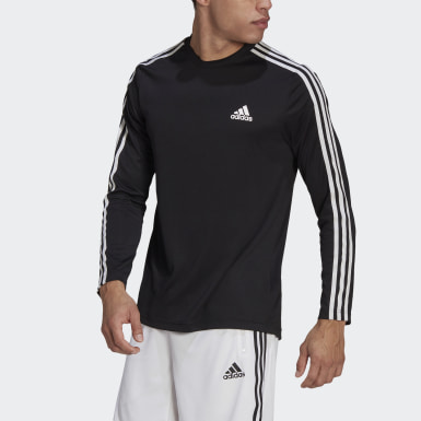Camiseta adidas Designed To Move AEROREADY 3-Stripes Preto Homem Training