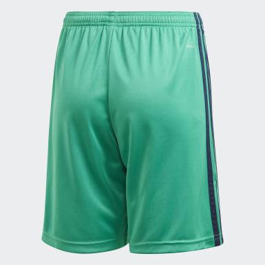 Boys Football Green Real Madrid Third Shorts