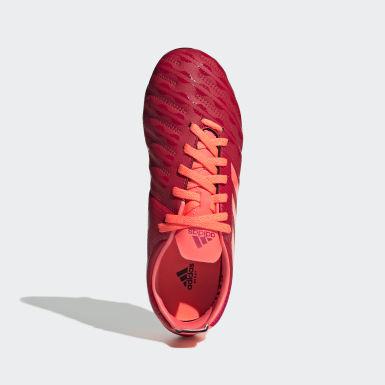 Chaussure Malice Junior Terrain gras Rouge Garçons Rugby