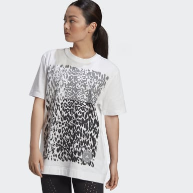 Women adidas by Stella McCartney White Cotton Graphic Tee