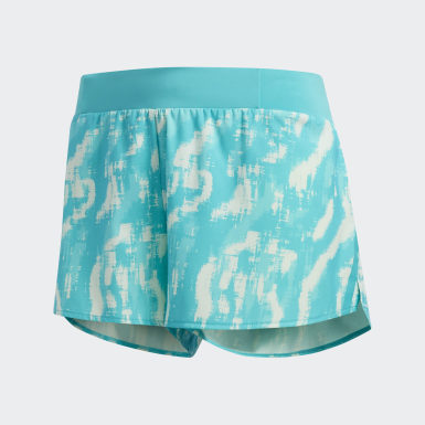 Dames Hardlopen Turquoise Saturday Graphic Short