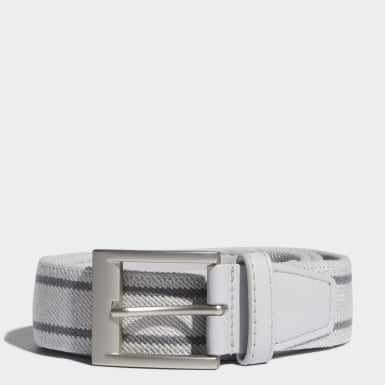 Men Golf Grey Stretch Woven Belt