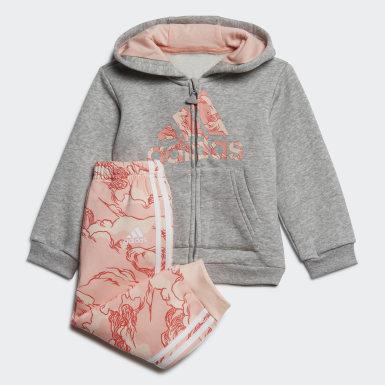 Conjunto com Capuz em Fleece Cinzento Criança Treino