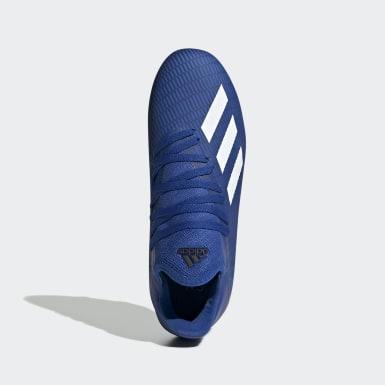 Botines X 19.3 Terreno Firme Azul Niño Fútbol