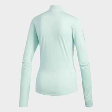Women Running Turquoise Own the Run Long-Sleeve Top