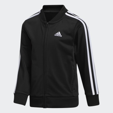 Youth Training Black Tricot Jacket and Joggers Set