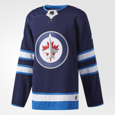 Maillot Jets Laine Domicile Authentic Pro bleu Hockey