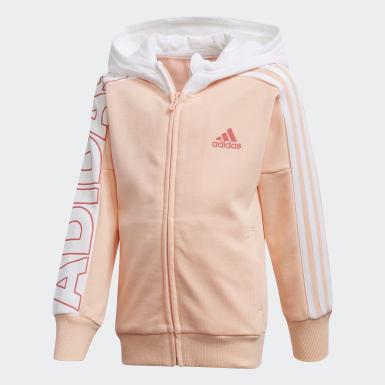 Dívky Trénink růžová Bunda Branded Knit