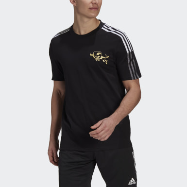 Men Football Black Manchester United CNY Tee