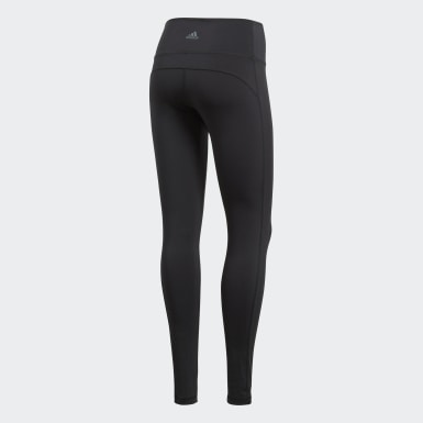 Mallas Believe This Solid - Corte Alto Negro Mujer Training