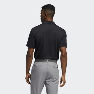 Men Golf Black Performance Primegreen Polo Shirt