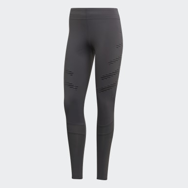 Mallas How We Do Speed Long - Corte Alto Gris Mujer Running