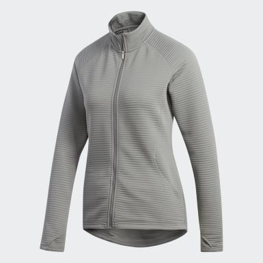 Women's Golf Grey Essentials 3-Stripes Layering Jacket
