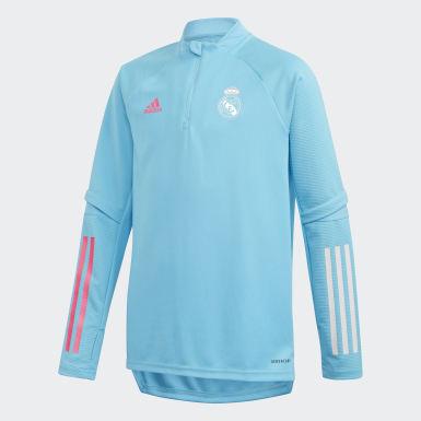 Kinderen Voetbal Turquoise Real Madrid Training Longsleeve