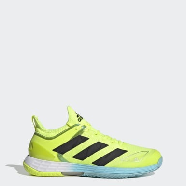 Men Tennis Yellow Adizero Ubersonic 4 Tennis Shoes