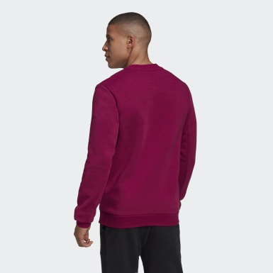 Men Athletics Burgundy Badge of Sport Fleece Sweatshirt