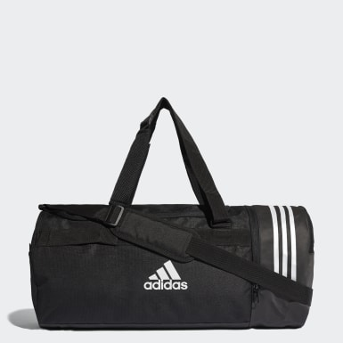 Training Black Convertible 3-Stripes Duffel Bag Medium