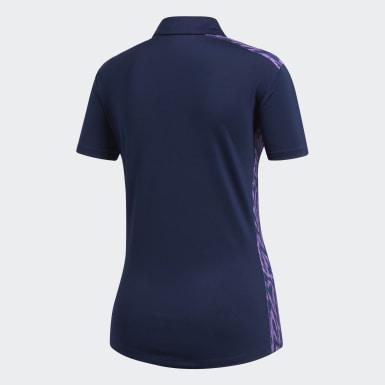 Women Golf Blue Ultimate365 Novelty Polo Shirt