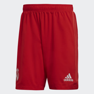 Men Football Red Real Madrid Authentic Third Shorts