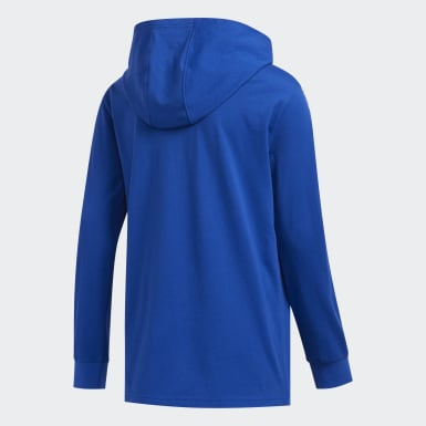 Youth Training Blue Badge of Sport Hooded Tee