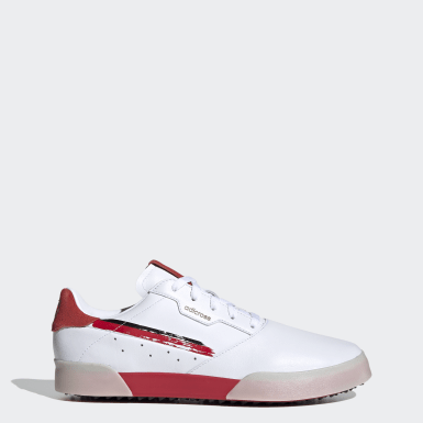 Men Golf White Adicross Retro Golf Shoes